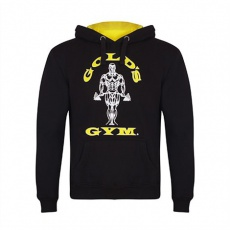 Gold's Gym pánská mikina černá se žlutým logem