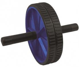 Spokey Posilovací kolečko double roller 18,5cm - černomodré
