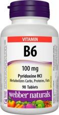 Webber Vitamin B6 100mg 90 tablet