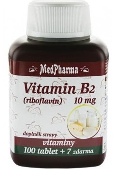 MedPharma Vitamin B2 (riboflavin) 10 mg 107 tablet