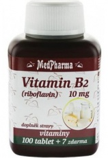 MedPharma Vitamin B2 (riboflavin) 10 mg 107 tablet