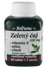 MedPharma Zelený čaj 200 mg + vitamín E + selen + zinek 67 tablet
