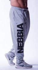 Nebbia Hardcore tepláky 510 šedé