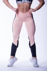NEBBIA high waist mesh leginy 601 lososové