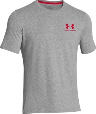 Under Armour Pánské tričko Left Chest Lock up šedá
