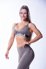 Nebbia Open back mini top 620 mocha