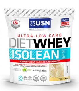 USN Diet Whey Isolean 1000 g - jahodový cheesecake VÝPRODEJ