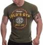 Gold's Gym pánské tričko Vintage Army