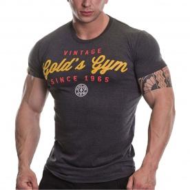 Gold's Gym pánské tričko Vintage šedočerná