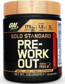Optimum Gold Standard Pre-workout 330g - ovocný punč VÝPRODEJ (POŠK.OBAL)