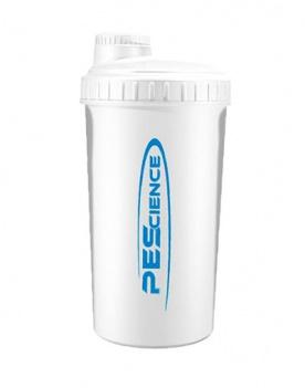 PEScience Šejkr 700 ml s víčkem bílo modrý