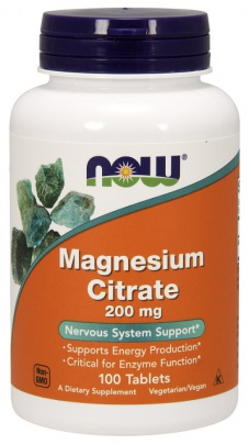 Now Foods Magnesium Citrate 200 mg 100 tablet