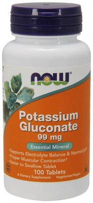 Now Foods Potassium Gluconate 99 mg 100 tablet