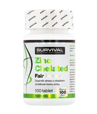 Survival Zinek Chelated Fair Power 100 tablet