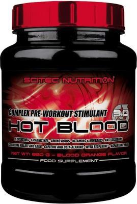 Scitec Hot Blood 3.0 820g - červený pomeranč PROŠLÉ DMT