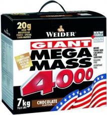 Weider Giant Mega Mass 4000 7kg - bílá čoko s pralinkou VÝPRODEJ (POŠK.OBAL)