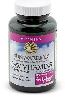Sunwarrior Raw Vitaminy pro ženy 90 kapslí