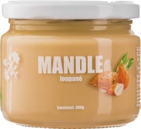 Lifelike Mandlový krém z loupaných mandlí 300g