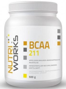 NutriWorks BCAA 2:1:1 500 g + Vitamin C 200 g ZDARMA