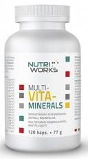 NutriWorks MULTI-VITA-MINERALS 120 kapslí (77g)