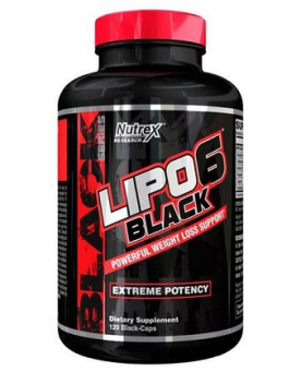 Nutrex Lipo 6 Black Weight Loss Support 120 kapslí
