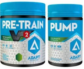 ADAPT NUTRITION HARDCORE SET (Pre Train V2 330g + PUMP 80 kapslí)