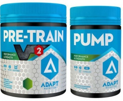 ADAPT NUTRITION HARDCORE SET (Pre Train V2 330g + PUMP 80 kapslí)