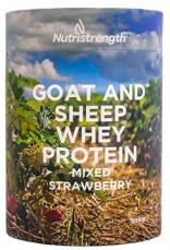 Nutristrength kozí a ovčí whey protein 500g jahoda