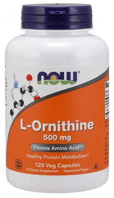 Now Foods L-Ornithine 500 mg 120 kapslí
