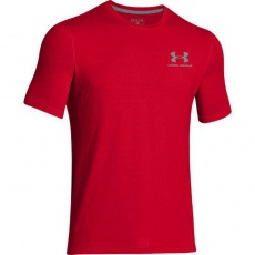 Under Armour Pánské tričko Left Chest Lock up červené