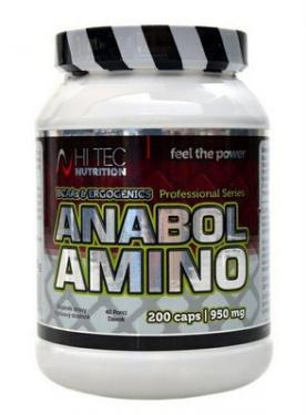 HiTec Nutrition Anabol Amino 950 mg 200 kapslí VÝPRODEJ