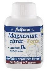 MedPharma Magnesium citrát Forte + Vitamín B6 67 tablet