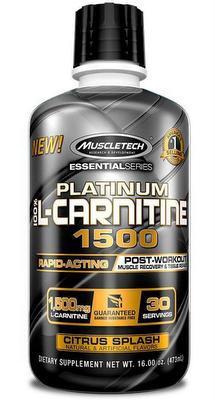MuscleTech 100% Platinum L-Carnitine 1500 473 ml - citron