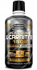 MuscleTech 100% Platinum L-Carnitine 1500 473 ml citron