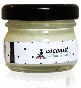BiGBOY Kokosový krém s bílou čokoládou a rumovou pralinkou 25 g