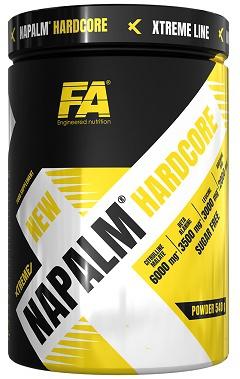 FA Xtreme Napalm Hardcore 540 g + Nuclear Nutrition šejkr 600 ml s dávkovačem ZDARMA