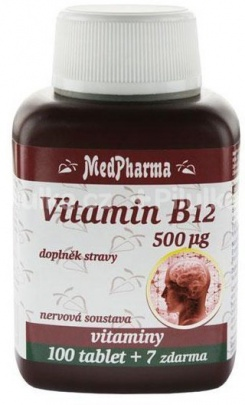 MedPharma Vitamín B12 500 µg 107 tablet