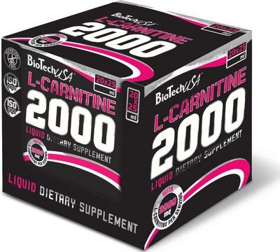 Výsledek obrázku pro BioTech USA L-Carnitine Ampule 2000 20 x 25 ml