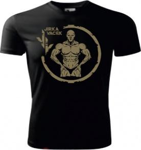 Jirka Vacek Pánské tričko černé se zlatým logem