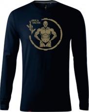 Tričko s dlouhým rukávem Jirka Vacek (merch) pánské tmavě modrá