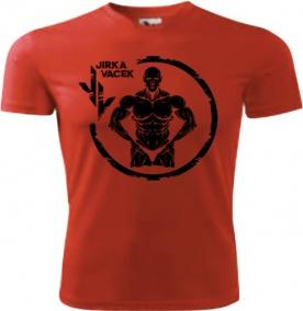 Jirka Vacek Pánské tričko červené s černým logem