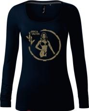 Tričko s dlouhým rukávem Jirka Vacek (merch) dámské tmavě modrá