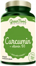 GreenFood Curcumin (Kurkumin) + vitamin D3 60 kapslí
