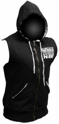 Nebbia Reg Top s kapucí a zipem 716 černý