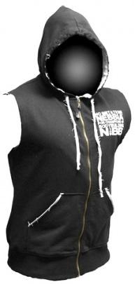 Nebbia Reg Top s kapucí a zipem 716 tmavě šedý