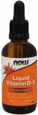 Now Foods Liquid (tekutý) Vitamin D-3 59ml