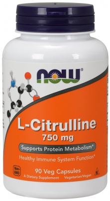 Now Foods L-Citrulline 750mg 90 kapslí