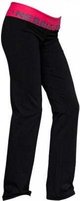 Nebbia Elastické kalhoty rovné 675 černo / růžové