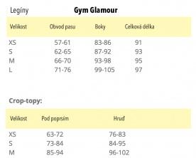 Gym Glamour legíny bezešvé steel melange