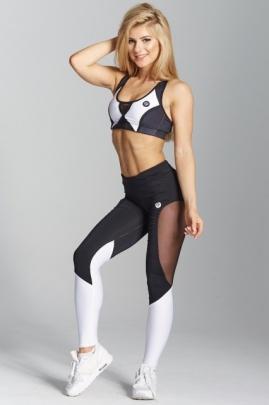 Gym Glamour Leginy Black and White